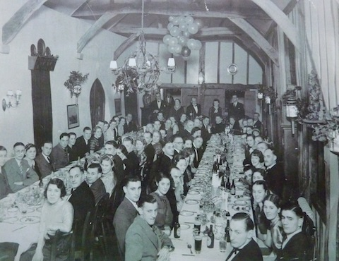 A Nelco works party. The venue looks like the Refectory at Milford.