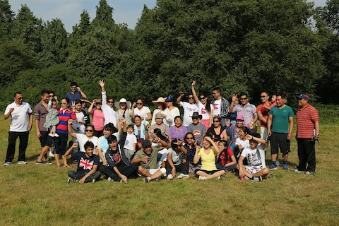 Members of Guildford's Nepalese community having a great day hiking in the hills around Guildford.