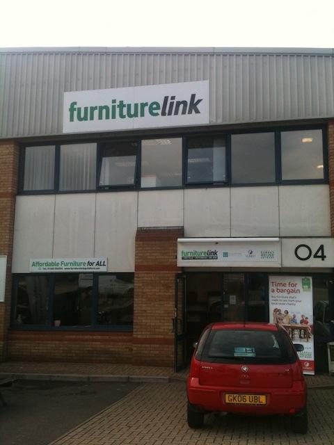 Furniturelink's premises on the Cathedral Hill business park, Guildford.
