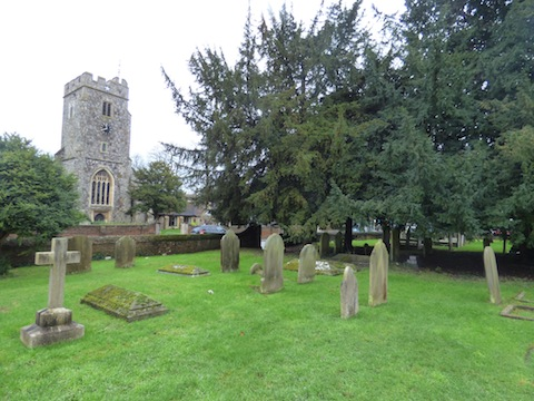 Looking towards the church from the west churchyard.