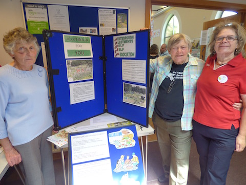 Noreen Moynihan and Beverley Mussell from the Westboorugh Allotments and Guildford Tesco's community champion Sue Keeley (right). Sue helped with the running of the event on the day along with Joining In! co-ordinator David Rose, who took the photos!