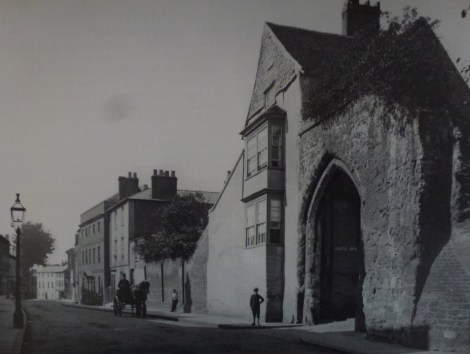 Castle Arch before the museum gallery was built.