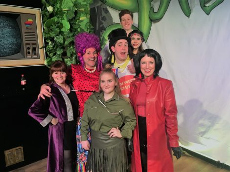 The cast of Guildford's Adult Panto - Jack and his Giant Stalk