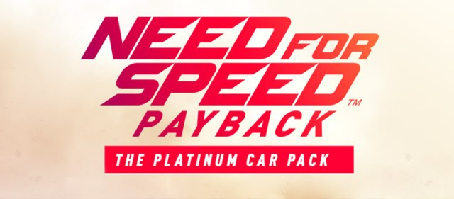 Need for Speed Payback Platinum Car Pack DLC Code