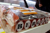Several boxes of Berger Cookies are sold at MaGruder's of DC, a grocery store in Chevy Chase. The iconic Baltimore dessert contains one gram of trans fat per cookie and could be prepare with a new recipe  if the FDA bans partially hydrogenated oils, a source of trans fat. Photo by Kirsten Petersen