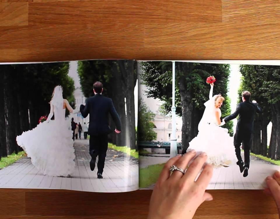 Álbum de fotos de casamento
