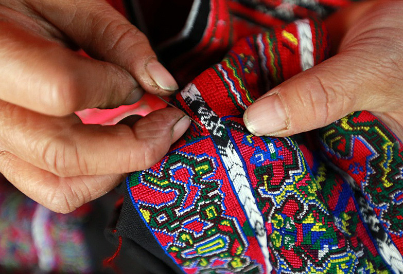 embroidery of Yao minority in Longsheng
