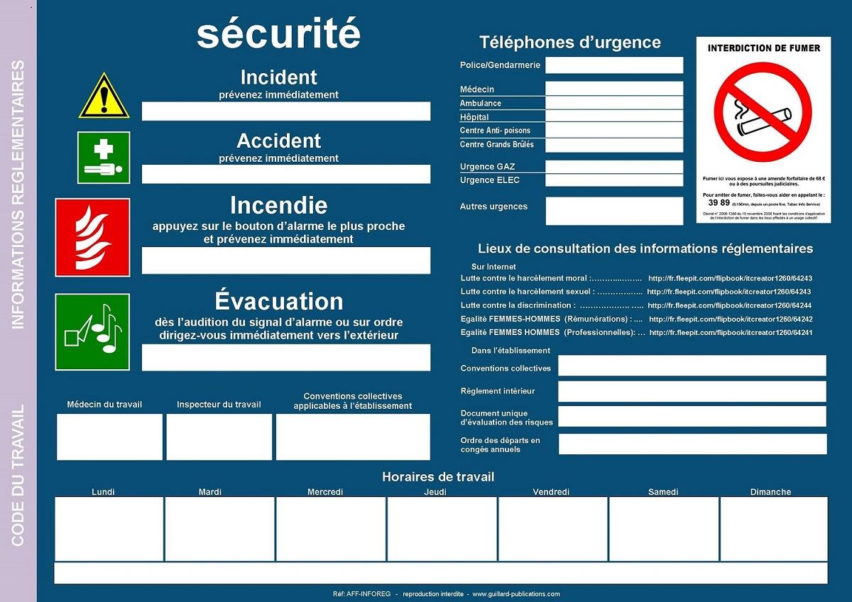 Erp Et Ert Affichage Obligatoire Code Du Travail Aff Inforeg
