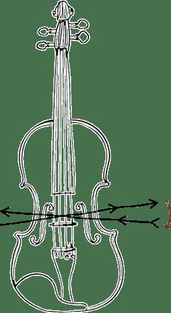 Les cordes timbre de Warchal peuvent être ouvertes en utilisant des coups d'archets spéciaux.