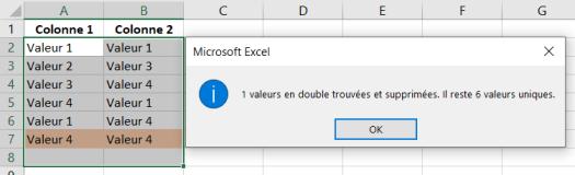 Doublons Supprimés Sur Plusieurs Colonnes Excel