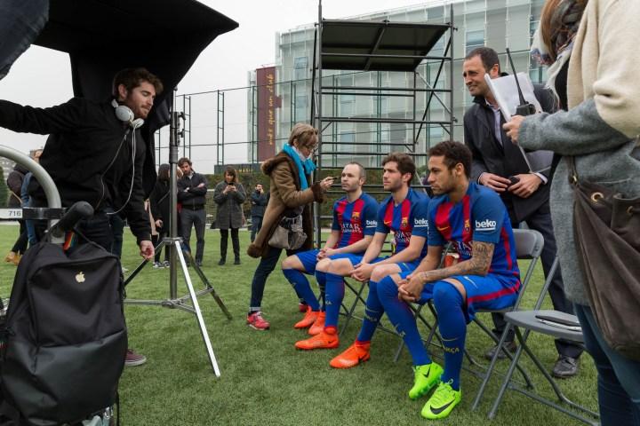 Making Of de anuncio de Audi y Barça