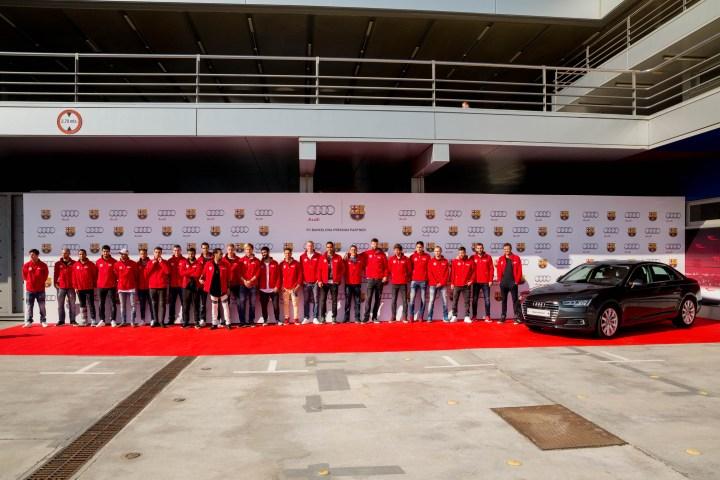 Entrega cotxes Audi a la plantilla del Barça Temporada 2015-16