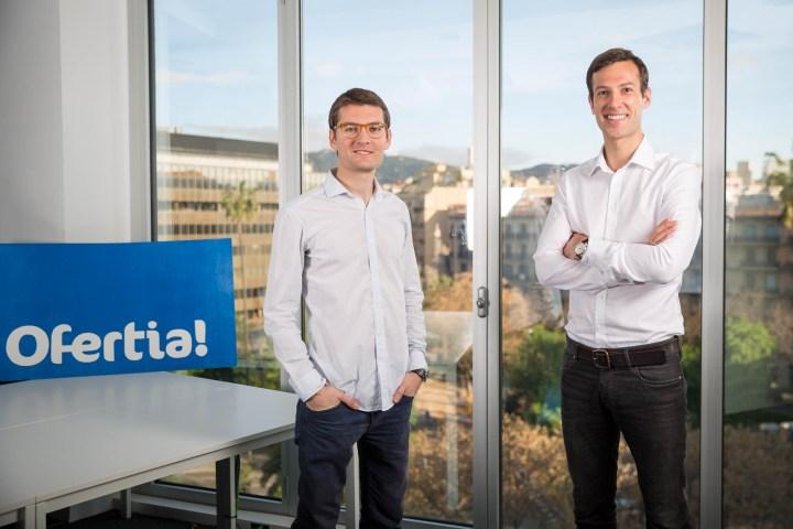 Sesión de fotografías corporativas a Jaume Betrian y Thomas Roggendorf, fundadores de Ofertia