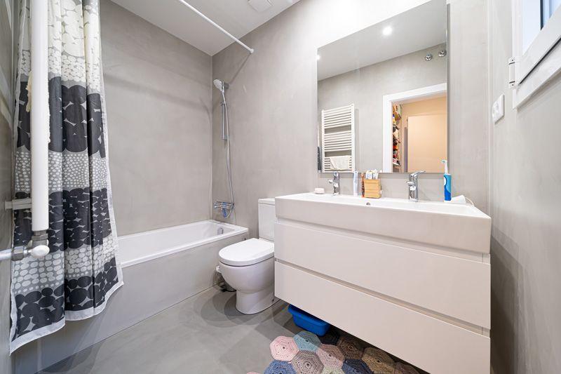 Baño mínimo en uno de nuestros proyectos