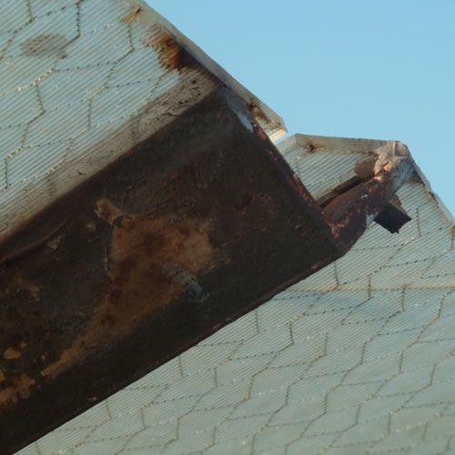 Deficiencias ITE - Claraboyas oxidadas