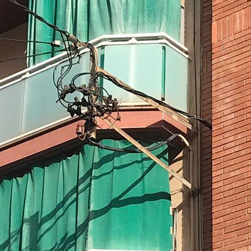 Deficiencias ITE - intalaciones eléctricas, telefónicas en mal estado