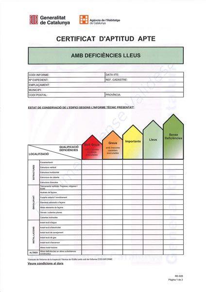 Certificado Aptitud ITE