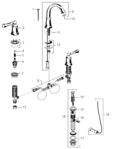 american standard bathroom faucet parts