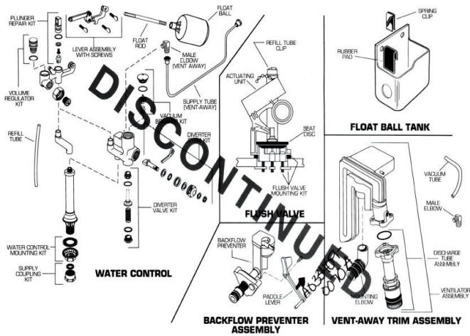 Order Replacement Parts for American Standard 2009; Roma