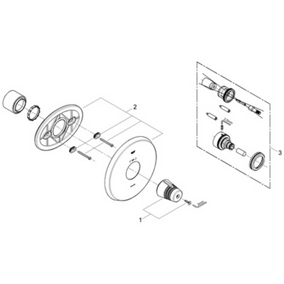 Grohe 19215 F1 Thermostat trim Part Catalog
