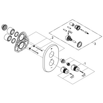 Grohe 19216 F1 Integrated thermostat trim Part Catalog
