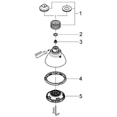 Order Replacement Parts for Grohe 28447 Movario; Champagne