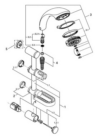 Order Replacement Parts for Grohe 28644 Relexa; Dual