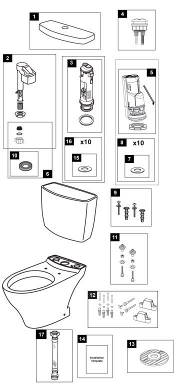 Toto CST412MF & CST412MF.10 Aquia 1.6 & 0.9 Gpf Toilet Two