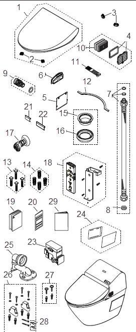 Toto MS970CEMFG G500 1.28Gpf / 0.9Gpf Toilet, Elongated