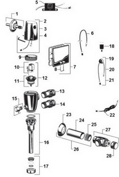 Order Replacement Parts for American Standard 6061 6062