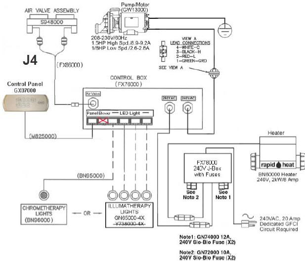 Jacuzzi GQ24XXX & GX07000 Fuzion Daul Zone D5 / J4 Topside
