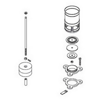 Kohler 30679; ; flush valve kit 1.6gpf brass (9360); in