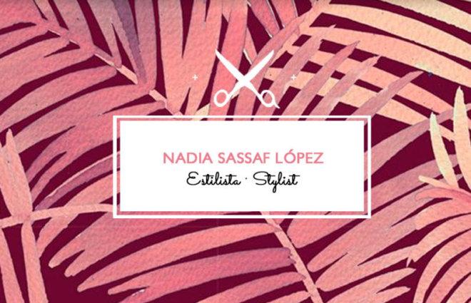 Diseño de Tarjetas Corporativas Estilista Nadia Sassaf