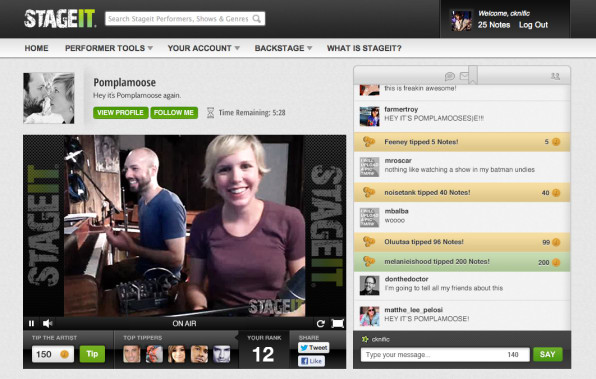 stageit livemusic streaming