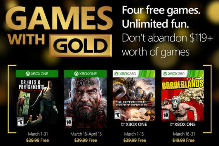 Games with Gold de marzo de 2016