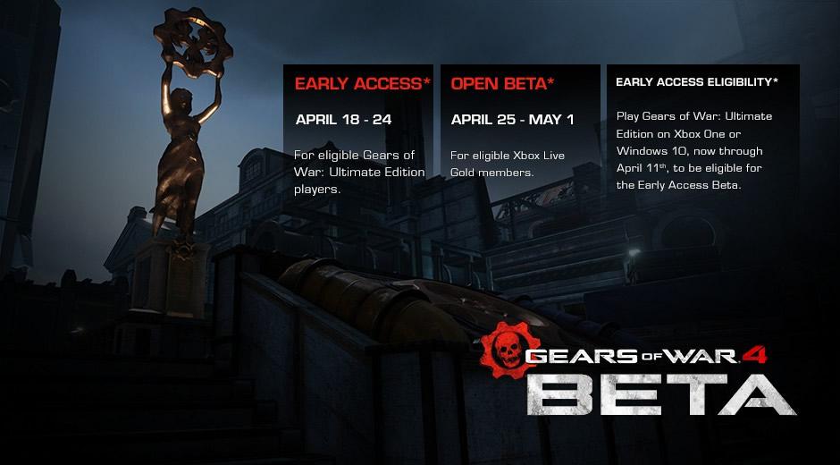 gears of war 4 beta fechas