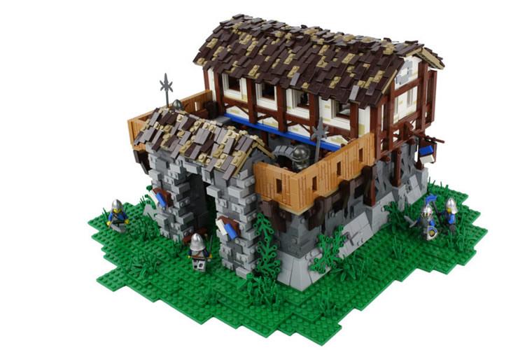 age of empires LEGO barracas