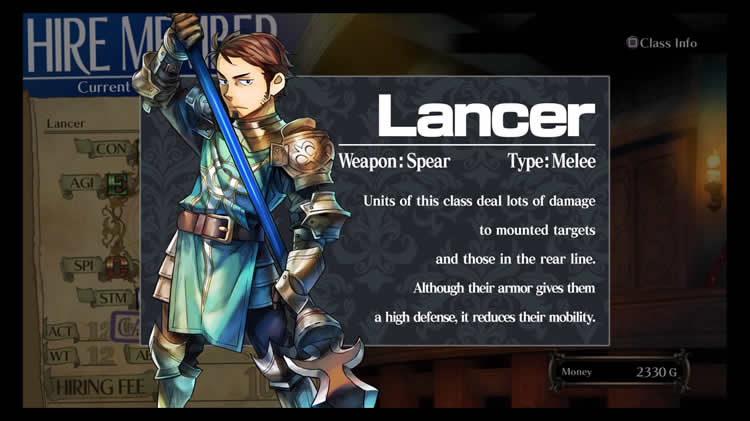 grand kingdom clases lancero lancer