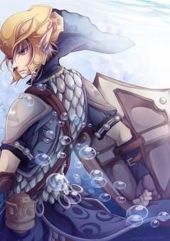 zelda anime link agua