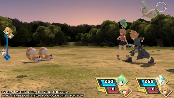 World of FInal Fantasy PVS combate
