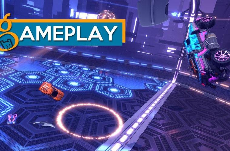 gameplay de rocket league y el modo dropshot
