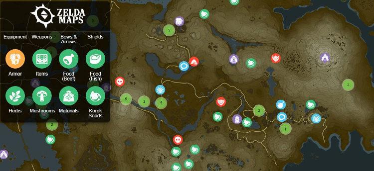 zelda breath of the wild mapa completo