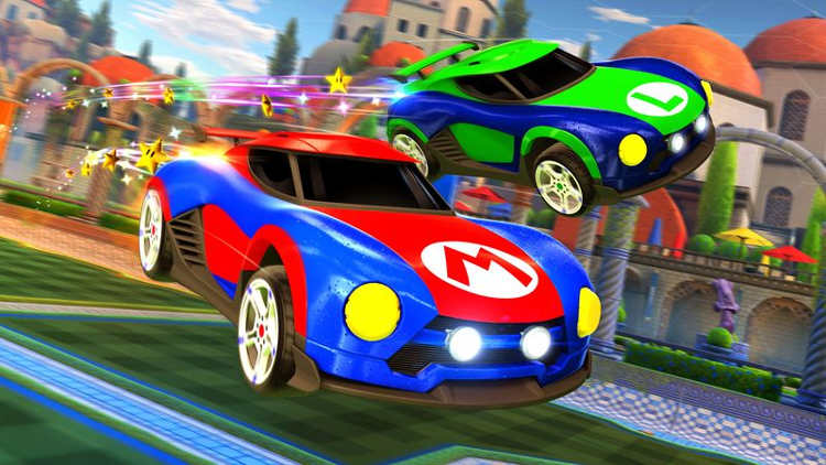 coches de Metroid y Mario en Rocket League 1