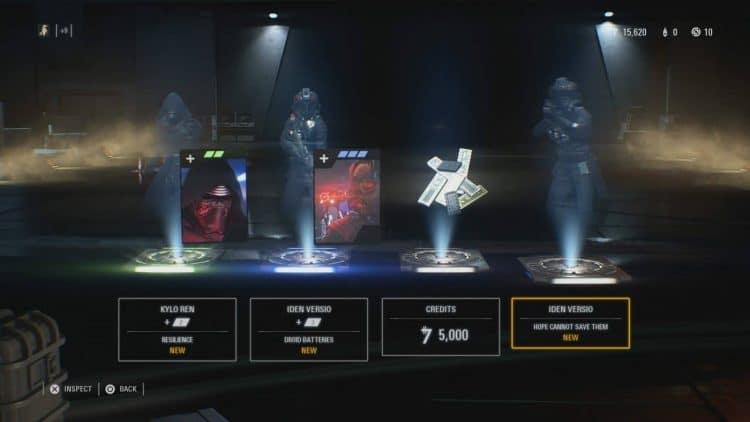 cajas de recompensa de Star Wars Battlefront II