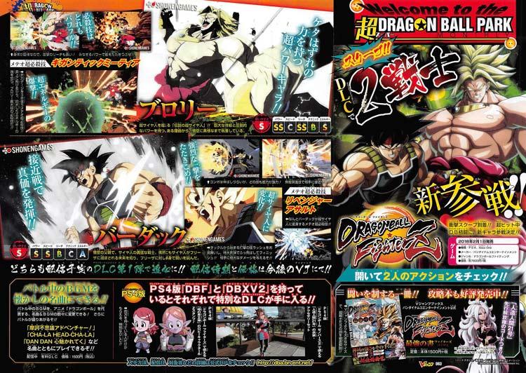 Broly y Bardock en Dragon Ball FighterZ
