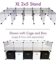 cage stand xl 2x5 for c c cagetopia guinea pig cages  [ 1200 x 1200 Pixel ]
