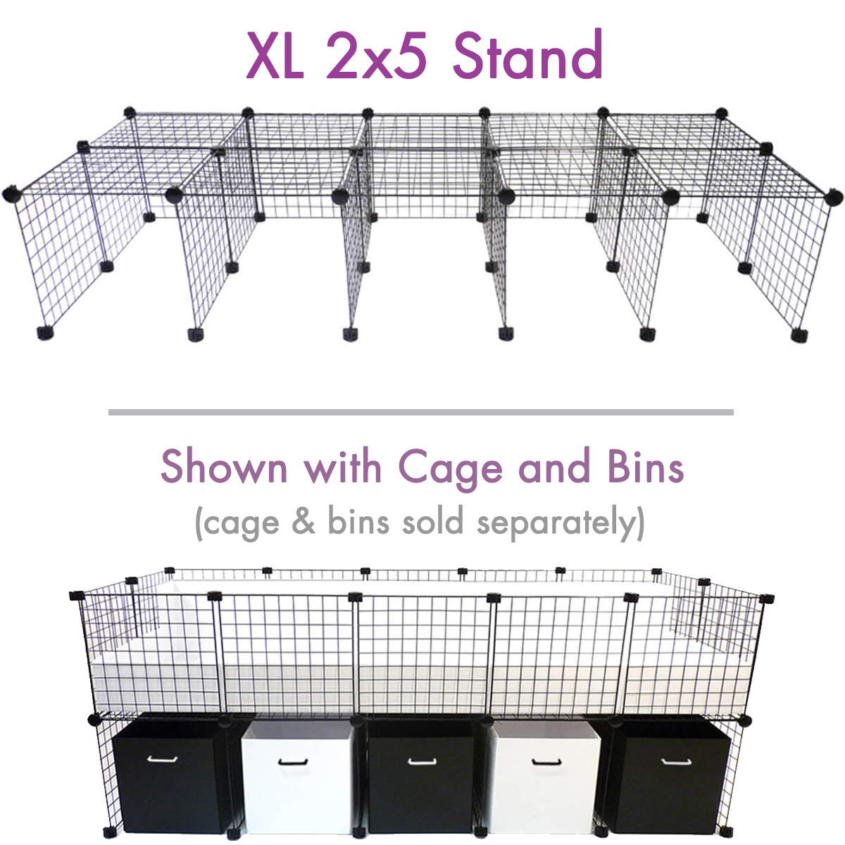hight resolution of cage stand xl 2x5 for c c cagetopia guinea pig cages