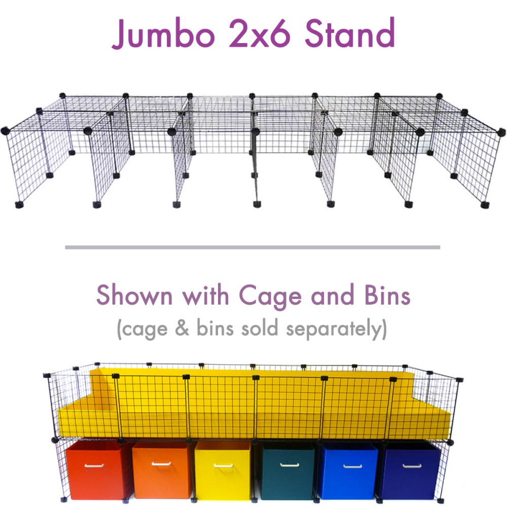 cage stand jumbo 2x6 for c c cagetopia guinea pig cages  [ 1000 x 1000 Pixel ]