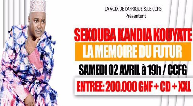 Affiche concert Sekouba Kandia Kouyaté – Copyright: facebook.com/Sekouba-Kandia-Kouyate