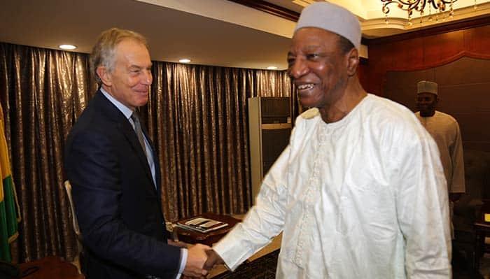 Tony Blair à Sékhoutouréya: L'ancien Premier ministre confiant en l'avenir de la Guinée
